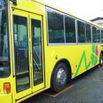 大型バス大判ステッカー施工